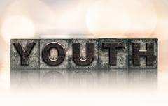 Stock Photo of Youth Concept Vintage Letterpress Type