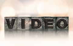 Video Concept Vintage Letterpress Type - stock photo