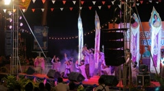 Traditional dance at Ok Phansa Festival,Ubon Ratchathani,Thailand Stock Footage