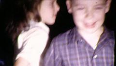 Kids Go NUTS! DANCE PARTY Children DANCING 1960s Vintage Film Home Movie 8571 Stock Footage