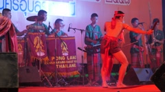 Traditional dance and musicians,Ubon Ratchathani,Thailand Stock Footage