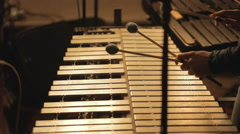 Playing vibraphone Stock Footage