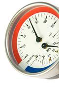 Temperature and pressure meter Stock Photos