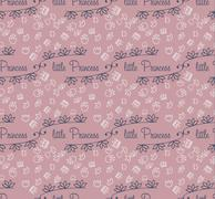 Pattern for little Princess Stock Illustration
