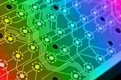Computer electronics scheme Stock Illustration