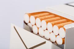 Box of cigarettes Stock Photos
