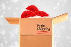 Stock Photo of Composite image of free shipping
