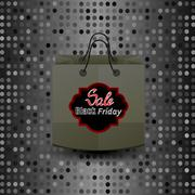 Stock Illustration of Shopping Paper Bag with Black Friday Sticker