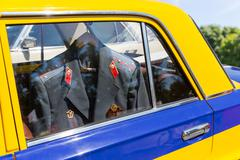 Car with police suit inside Kuvituskuvat