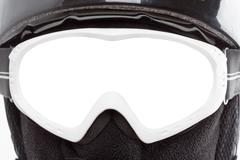 Close-up of snowboarder in balaclava Stock Photos