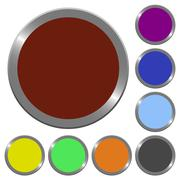 Color blank buttons - stock illustration