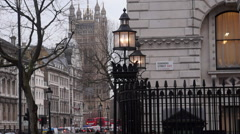 London Downing Street Stock Footage