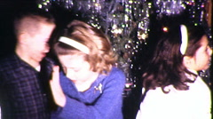 Kids DANCE PARTY Children DANCING Christmas 1960s Vintage Film Home Movie 8574 - stock footage