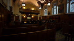 London Supreme Court Courtrooms - stock footage