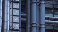 London Lloyds Glass Elevator Stock Footage