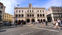 The Central Train Station, also called Rossio Station Stock Footage