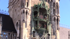 Munich Glockenspiel Germany Stock Footage