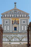Florence. San Miniato al Monte. - stock photo