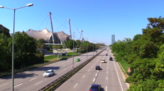 Olympic Hall Park Munich Germany Stock Footage