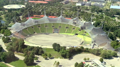 Olympic Park Olympic Stadium Munich Germany Stock Footage