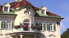 Villa Jagerhaus Hohenschwangau Bavaria Germany Stock Footage