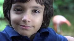 Preteen Hispanic Boy Smiling Stock Footage