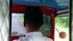 Point of view from inside Tuktuk driving at road to Masaya Stock Footage