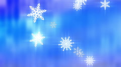 Snow flakes abstract loop Stock Footage