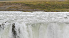 ICELAND Godafoss waterfall Wasserfall Stock Footage