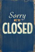 A Vintage closed sign Stock Illustration