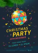Christmas party flyer Stock Illustration