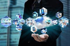 Internet Cloud Computing - stock illustration