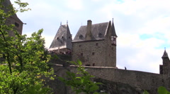 Burg Eltz Castle Eltz Germany Stock Footage