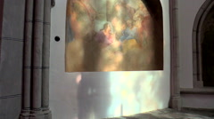 Ancient religious painting in Church of Our Lady Germany Stock Footage
