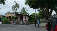 Tuktuks in street of Catarina Stock Footage