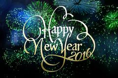 Composite image of new year graphic - stock illustration