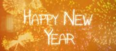 Composite image of sparky happy new year - stock illustration