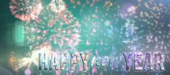 Composite image of new year graphic Stock Illustration