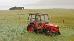 ICELAND tractor Traktor ruin Ruine Stock Footage