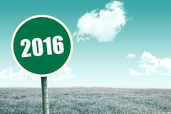 Composite image of 2016 - stock illustration