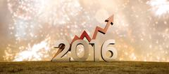Stock Illustration of Composite image of 2016 graphic