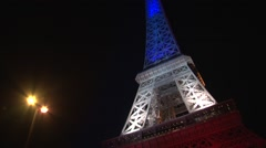 Tour Eiffel - Eiffel Tower — blue white red Stock Footage