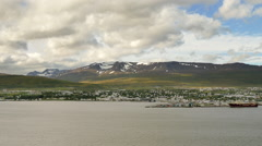 Stock Video Footage of ICELAND Akureyri cityscape Stadt