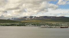 ICELAND Akureyri cityscape Stadt - stock footage