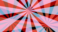 Retro Pinwheels Psychedelic Hypnotic VJ Background loop red Stock Footage