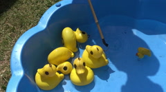 Yellow Plastic Ducks Stock Footage