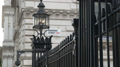 Street sign outside downing street, london Stock Footage
