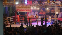 Thai boxing,Ubon Ratchathani,Thailand Stock Footage