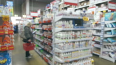 People in the interior of a building materials and household goods supermarket - stock footage