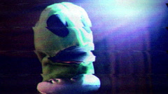Creepy alien distorted strange abduction Stock Footage